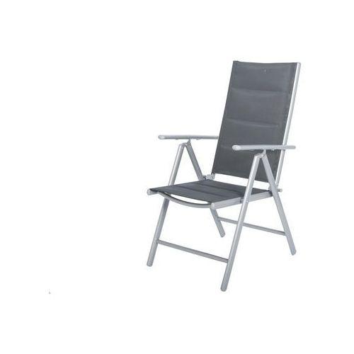 OKAZJA - Krzesło ogrodowe składane aluminiowe WENECJA - Srebrne