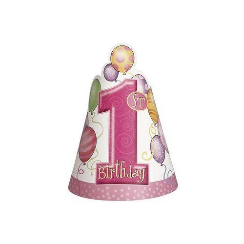 Unique Czapeczka na roczek 1st birthday baloniki pink - 1 szt