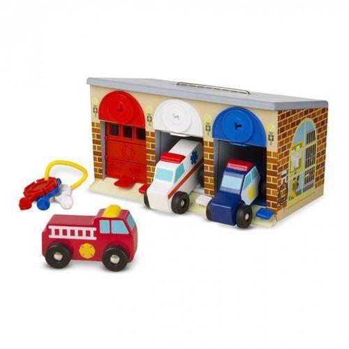 Garaż z kluczykami i pojazdami specjalnymi, melissa & doug marki Melissa & doug.