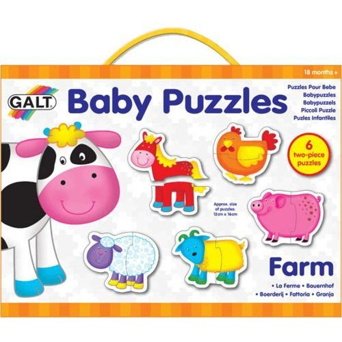 puzzle dla najmłodszych – zwierzątka na farmie 2 wyprodukowany przez Galt