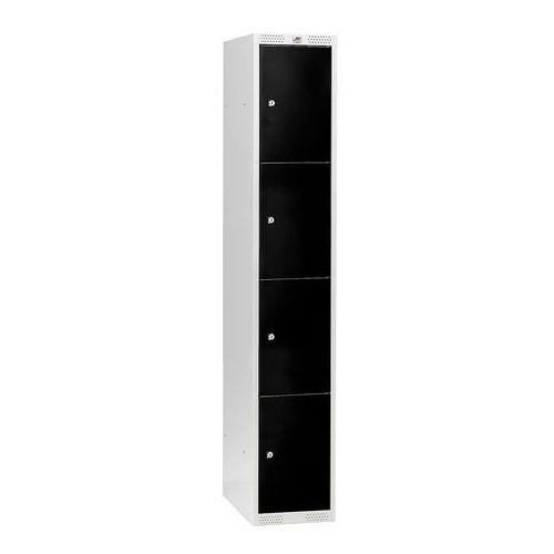 Aj produkty Szafa schowkowa classic, 1 moduł, 4 schowki, 1740x300x550 mm, czarny