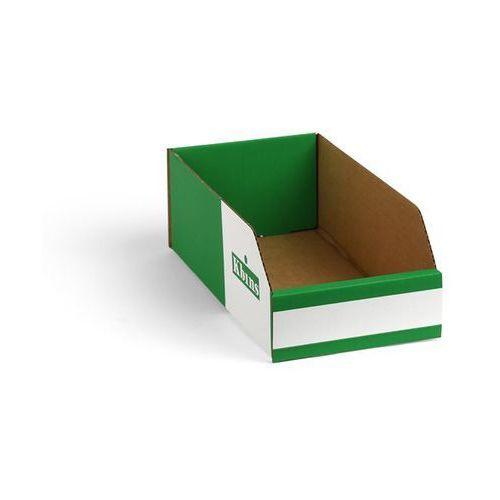 Skrzynki regałowe z kartonu, składane, opak. 150 szt., dł. x szer. x wys. 300x15