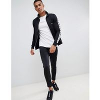 boohooMAN joggers tracksuit with side taping in black - Black, w 4 rozmiarach