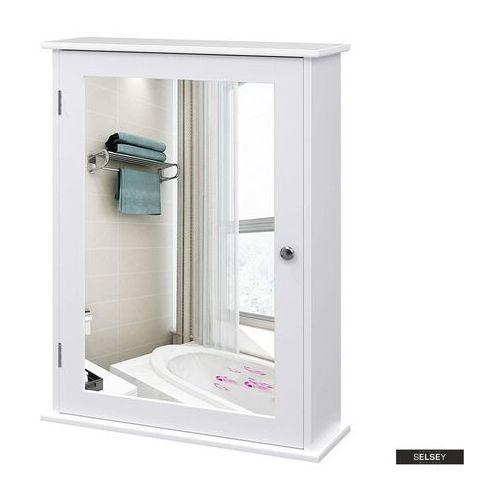 Selsey szafka łazienkowa wlens 41 cm wisząca z lustrem w stylu rustykalnym (5903025229430)