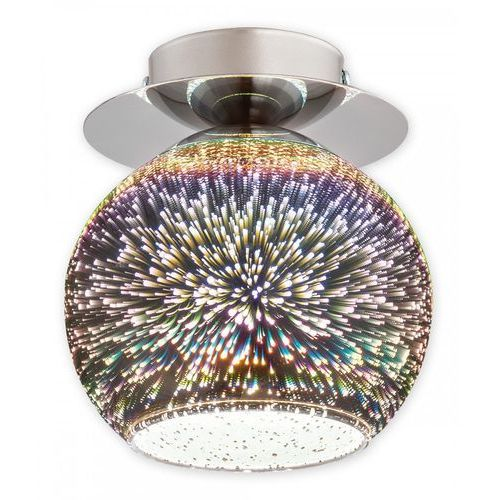 Lemir colours o2541 p1 3d plafon lampa sufitowa 1x60w e27 chrom (5902082867425)