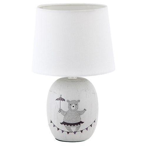 Rabalux Lampa stołowa dorka 4607 lampka nocna 1x40w e14 brązowy / biały