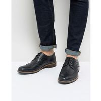 smart brogues in black leather - black marki Silver street