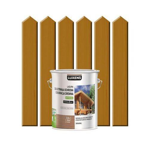 Luxens Lazura do drewna długotrwała ochrona i dekoracja drewna 2,5 ldąb średni