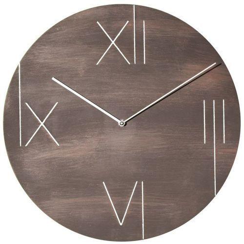 NeXtime - Zegar ścienny z ramką podświetlającą Galileo - brązowy