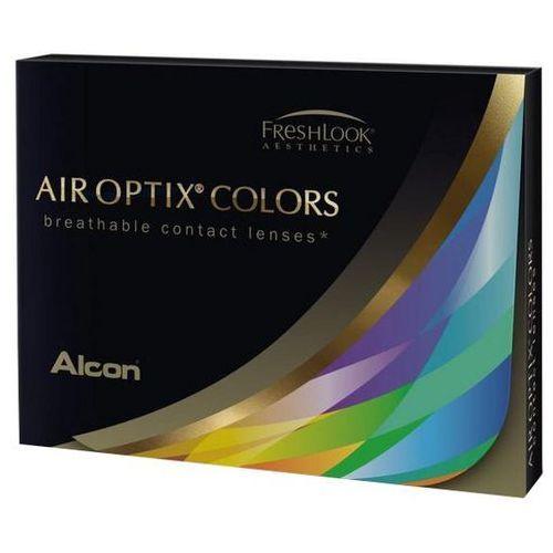 2szt +3,5 niebiesko-szare soczewki kontaktowe sterling gray miesięczne marki Air optix colors
