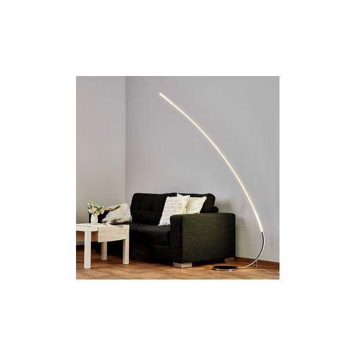 Chromowana lampa stojąca Jula z ksz. łuku z LED z kategorii Lampy stojące