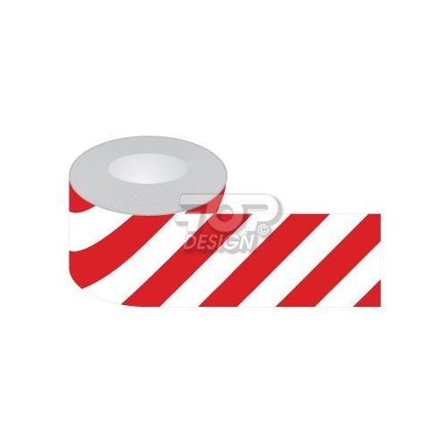 Taśma odgradzająca jednostronna biało-czerwona marki Top design