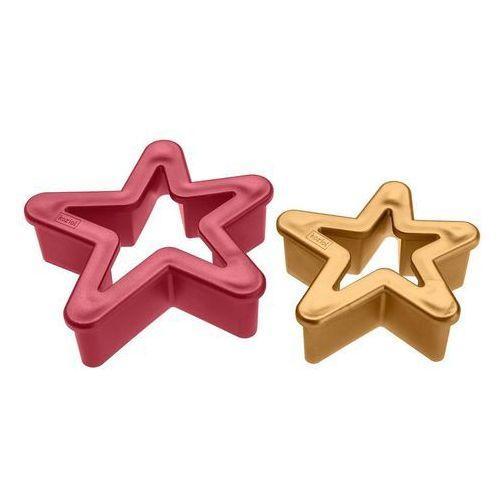 Foremka do ciastek Sterne 2 szt. bordeaus i golden pearl