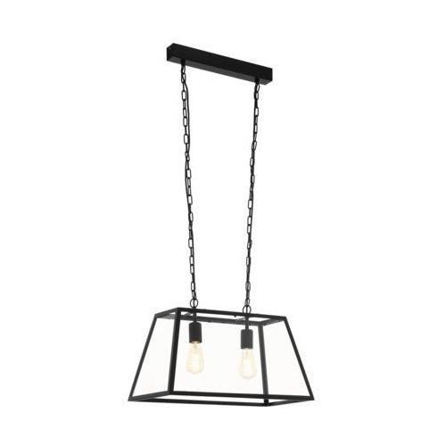 Lampa wisząca Eglo Amesbury 1 49883 zwis 2x60W E27 czarny