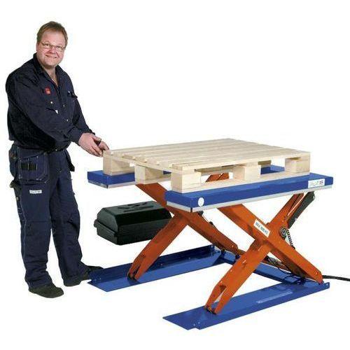 Edmolift hebetechnik Płaski stół podnośny, dł. x szer. 1350x1080 mm, zakres podnoszenia do 900 mm, pl