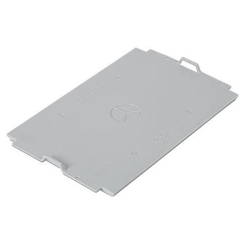 Pokrywa z polipropylenu, do pojemnika dł. x szer. 300x200 mm, szary, na 5 l.
