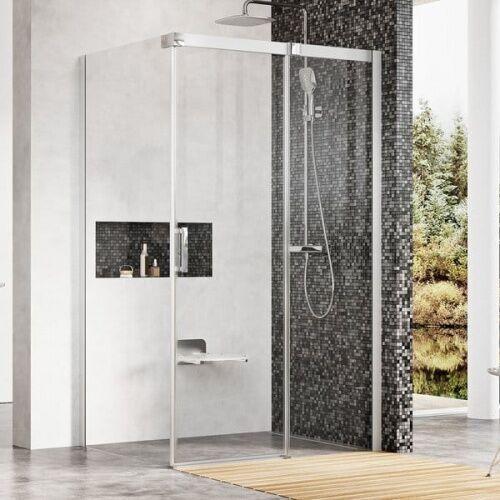 Ravak Matrix MSDPS-100/80 R kabina prysznicowa 100x80 cm prostokątna prawa satyna/transparent 0WPA4U00Z1