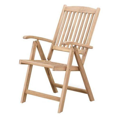 Beliani Drewniane krzesło ogrodowe - regulowane oparcie - riviera (7081453827218)