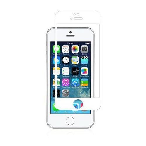ivisor glass - szkło ochronne ionglass na ekran do iphone se / iphone 5s / iphone 5c / iphone 5 (biała ramka) marki Moshi