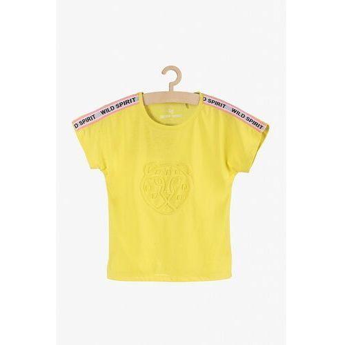 T-Shirt dziewczęcy żółty z tygrysem 4I3843