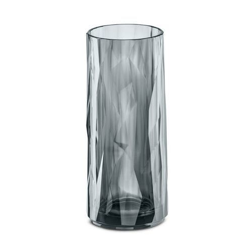 Wysoka szklanka do long drinków CLUB M - szklaneczka na napoje, do koktajli, wody, kolor szary, KOZIOL (4002942408957)
