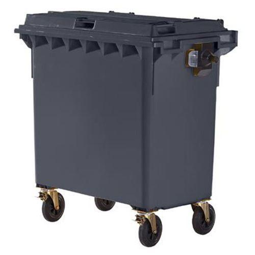 Duży pojemnik z tworzywa na odpady wg pn en 840, poj. 770 l, antracyt. wg din en marki Schaefer group