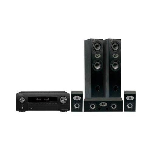 Kino domowe DENON AVR-X250BT + Eltax Experience 5.0 Czarny (2000013908384)