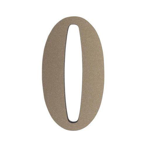 Cyfra 0 wys. 5 cm PVC srebrna (5905367001675)