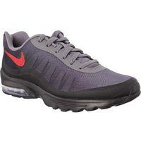 Nike AIR MAX INVIGOR PRINT 007 GUNSMOKE UNIVERSITY RED BLACK - Buty Męskie Sneakersy