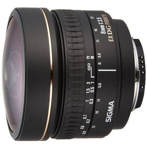 Sigma 8 mm f3.5 ex dg obiektyw mocowanie nikon