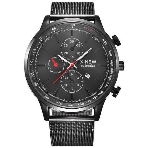 Zegarek męski XINEW bransoleta czarny - all black, kolor czarny