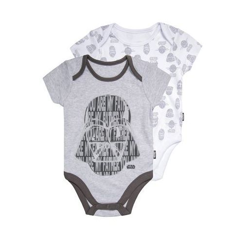 mothercare STAR WARS 2 PACK Body pale grey, kolor szary
