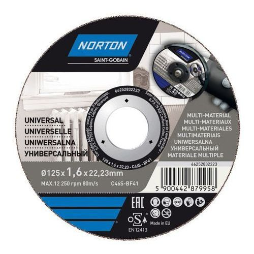 Tarcza korundowa Norton do cięcia multifunkcyjna 41-125 x 1 6 x 22 2 mm
