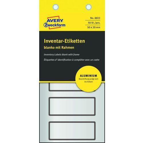 Tabliczki inwentaryzacyjne Avery Zweckform 6922, 50x20mm - sprawdź w wybranym sklepie