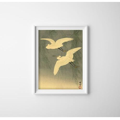 Plakat w stylu retro plakat w stylu retro żurawie autorstwa ohary koson marki Vintageposteria.pl