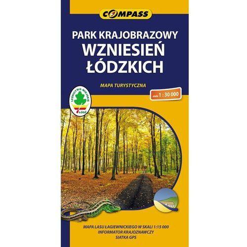 Park Krajobrazowy Wzniesień Łódzkich. Mapa turystyczna w skali 1:30 000, książka w oprawie broszurowej