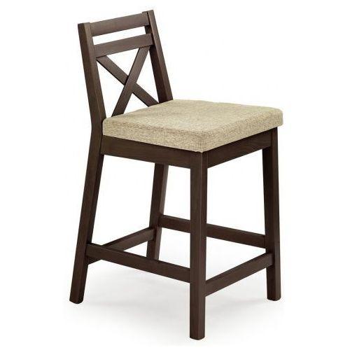 Drewniane krzesło do baru lidan - ciemny orzech marki Elior.pl