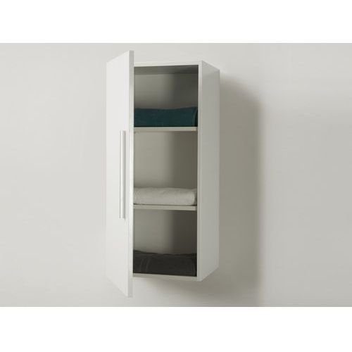 Beliani Meble łazienkowe - szafka wisząca łazienkowa biała - bilbao (7081453550284)