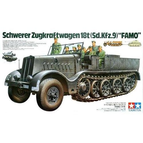 Tamiya german 18t heavy half track famo - darmowa dostawa!