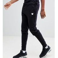 tall skinny joggers in black with small logo - black marki Good for nothing