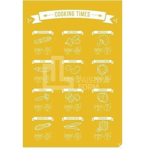 Plakat Cooking Time żółty 21 x 30 cm, cocolen2130