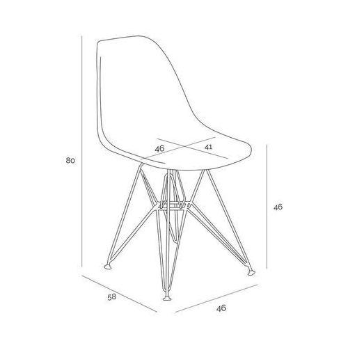 D2.design Krzesło p016 pp gold pomarańczowe (5902385739269)