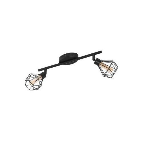 Eglo Zapata 1 32766 oprawa sufitowa druciana listwa spot 2x3W G9-LED czarna/bursztynowa
