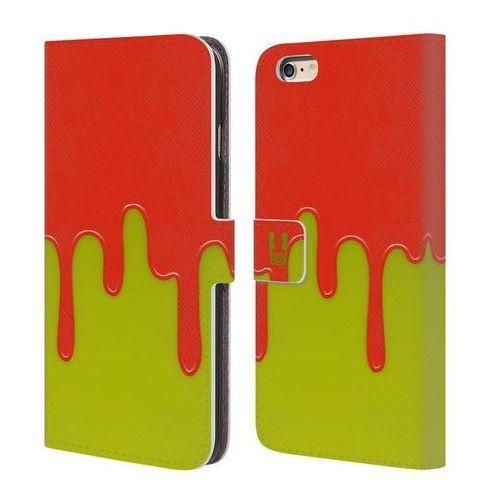 Head case Etui portfel na telefon - colour block meltdown orange lime