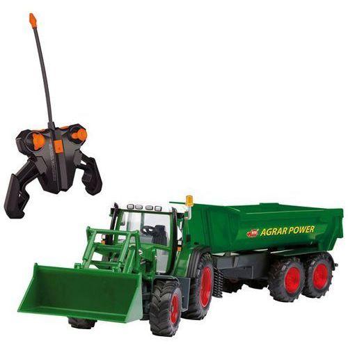 Dickie traktor z koparką i przyczepą rc 60 cm
