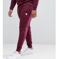 Good For Nothing PLUS Skinny Joggers In Burgundy with Small Logo - Red, w 3 rozmiarach