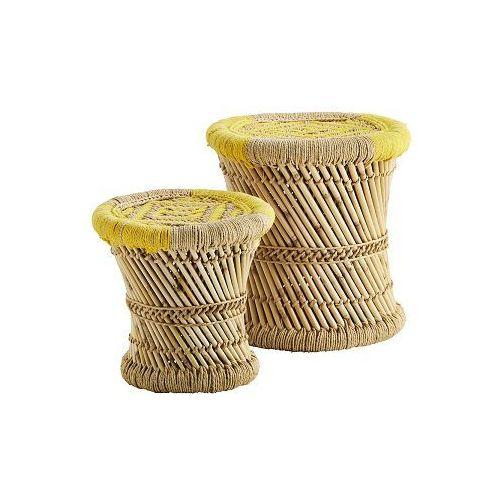 Madam Stoltz - Zestaw stołków bambusowych