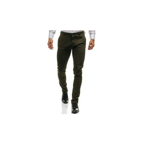 Spodnie chinosy męskie zielone denley ho7, J7