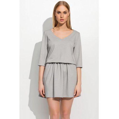 Sukienka model m309 grey melange, Makadamia