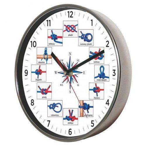 Zegar ścienny chromowany węzły żeglarskie, ATE2019WZ